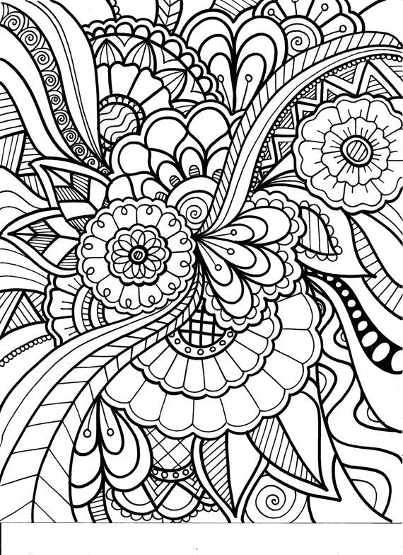 Adult Coloring Book Volume 3 Printable By PaisleyandHazel On Etsy