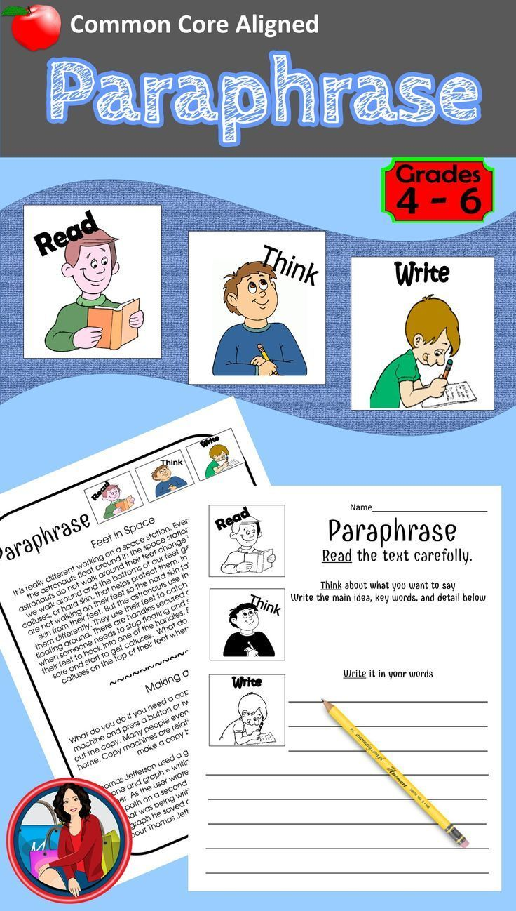 Paraphrase. This is a versatile paraphrasing activity that can be used many ways. Help your students understand paraphrasing. Teach the students the 3 steps of paraphrasing, read, think, and write in your own words. This paraphrase activity will give your