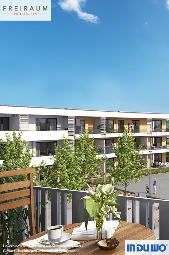 Visualisierung München außenillustration balkon tag freiraum vaterstetten