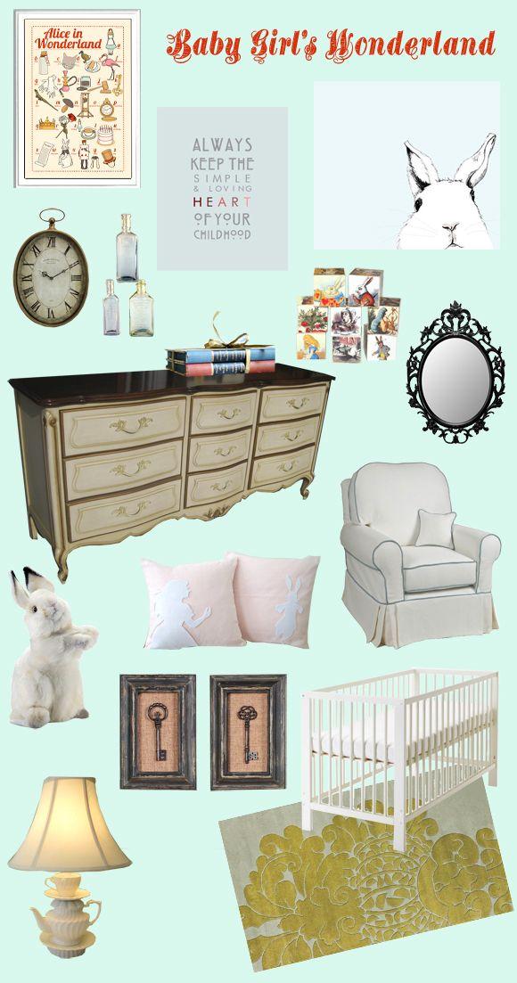 Nursery Decor Baby Girl S Wonderland Baby Girl Nursery
