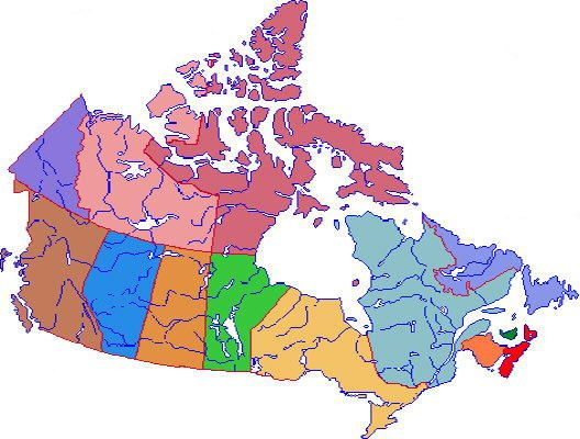 political map of canada provinces can color map