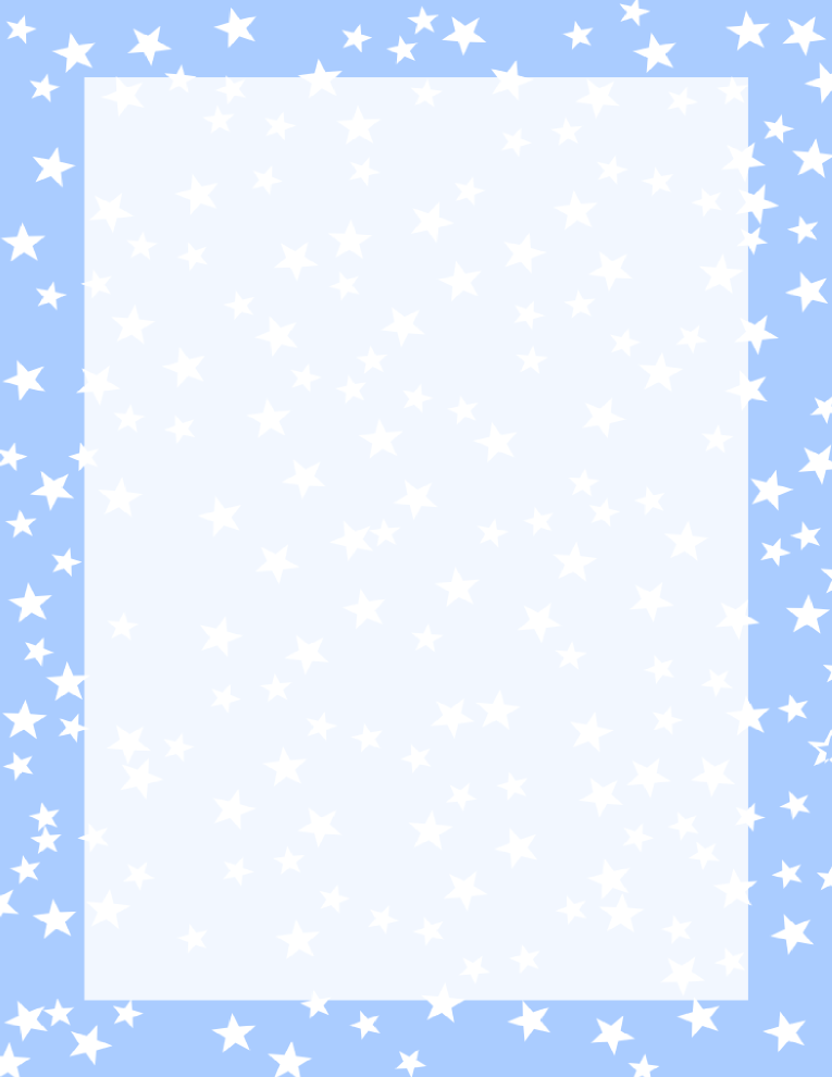 Stars Border Light Blue and White | Stationary | Borders for