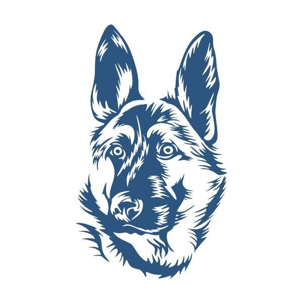 Alsatian German Shepherd wall art decor or car /& truck vinyl sticker
