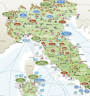 interactive tourist map ITALY Tourist map Travel maps and Italy