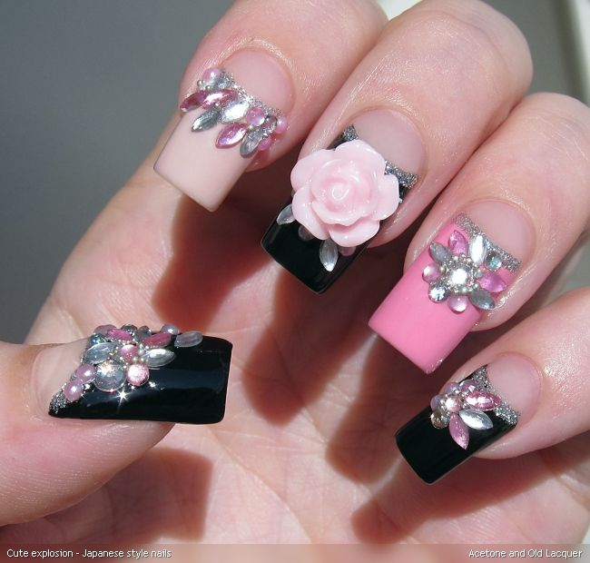 Acetone and Old Lacquer: Cute explosion - Japanese style nails ...