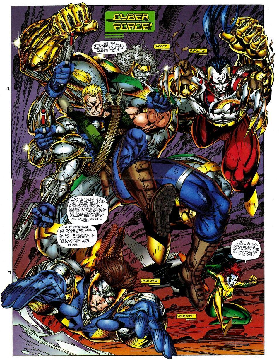 Cyberforce Marvel Coloring Image Comics Comic Art