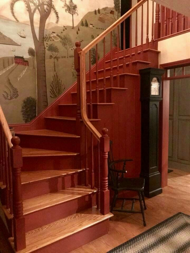 Pin by Michelle Tansey on Center Hall Stairway   Farmhouse ...