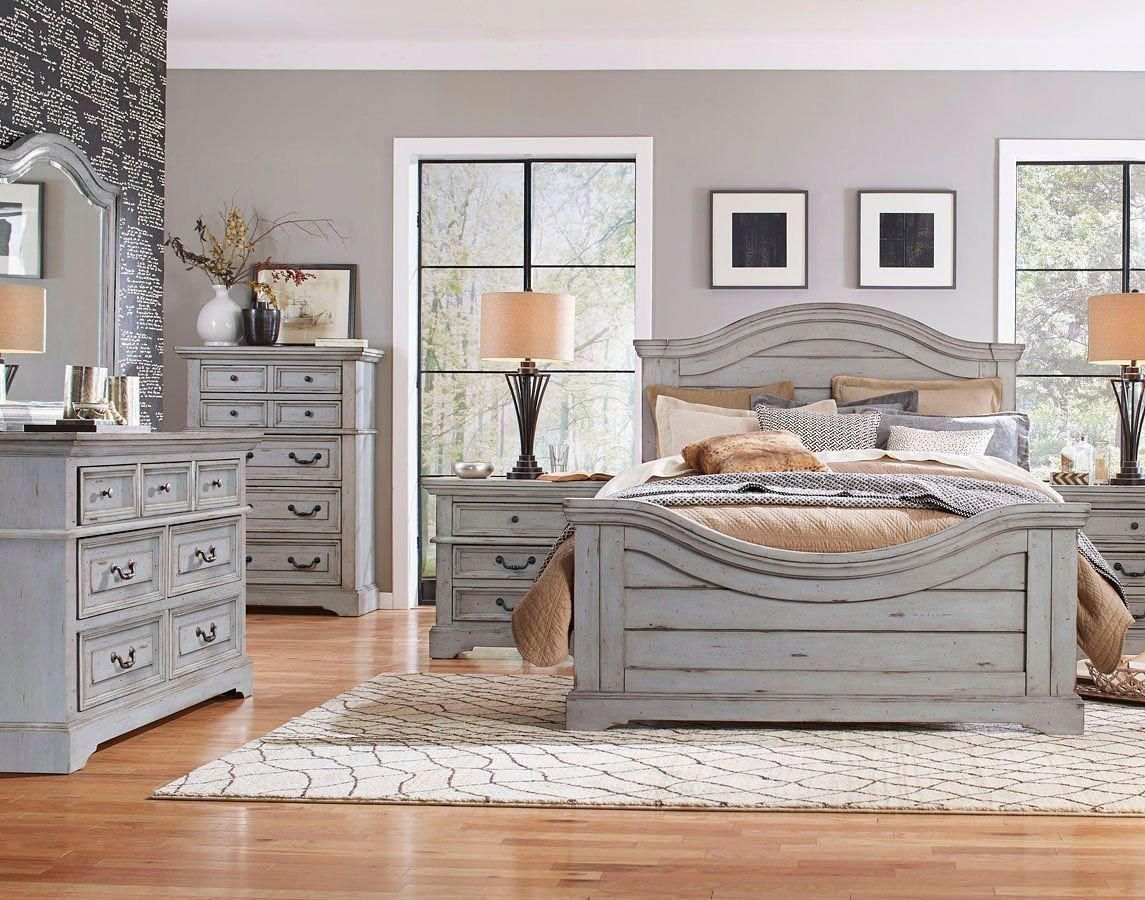 The Stonebrook Bedroom Collection By American Woodcrafters Furniture Is Crafted Of Durable Hardwood Solid In 2020 Grey Bedroom Furniture Bedroom Set Bedroom Sets Queen