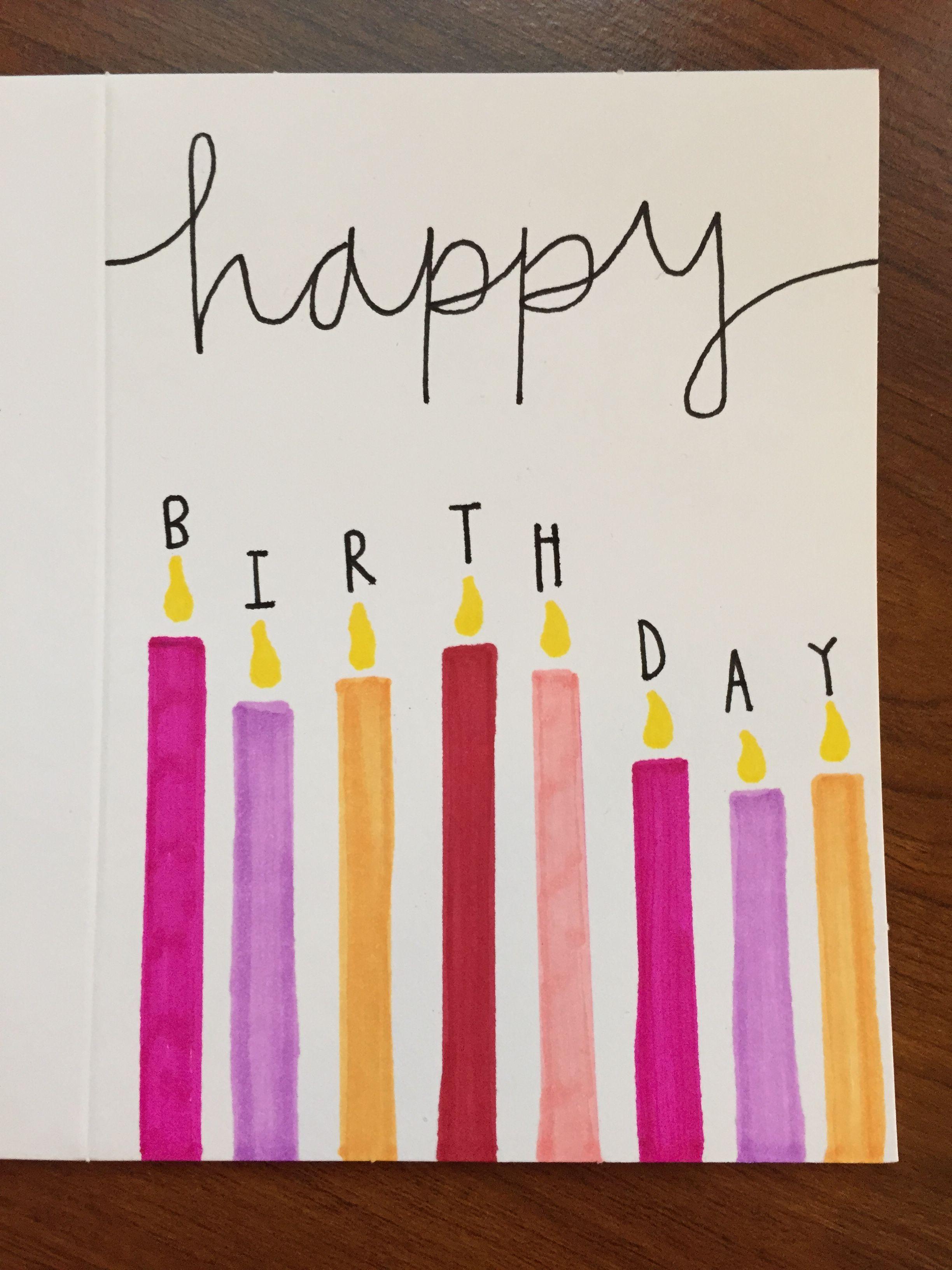 Birthday cards … Tarjetas de cumpleaños hechas a mano