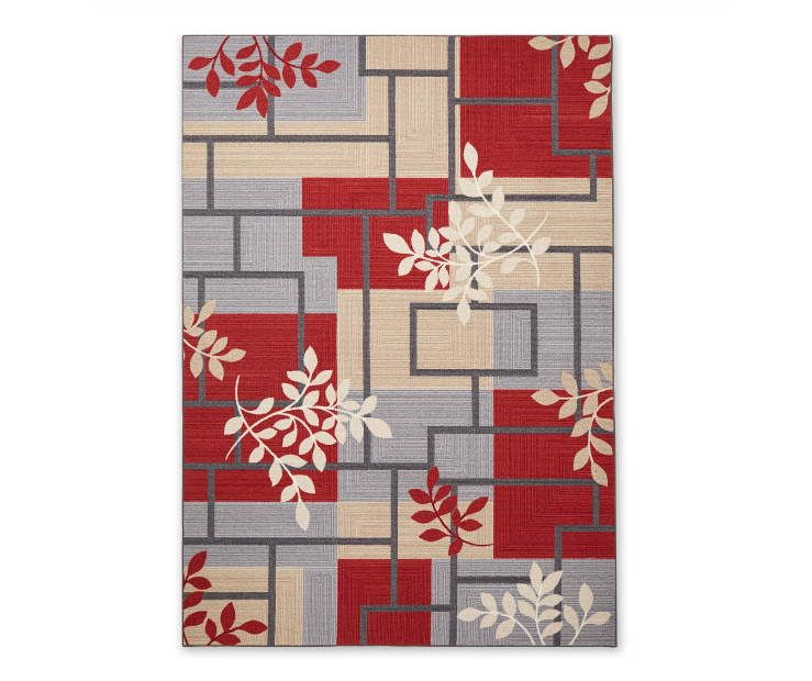 Living Colors Maxine Red Gray Geometric Vine Rugs Rugs Area Rugs Rugs In Living Room