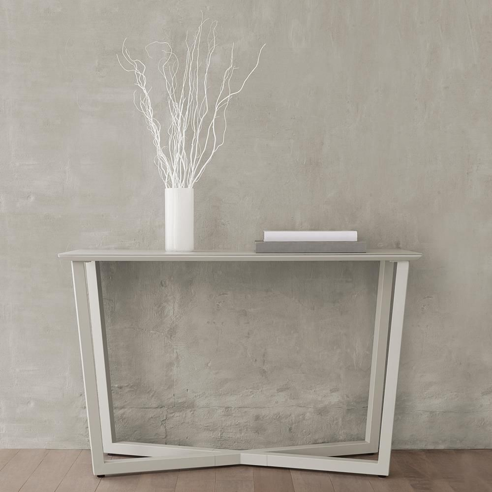 Glass console table with shelf atelier  moderna  frosted glasstop console table with metal legs