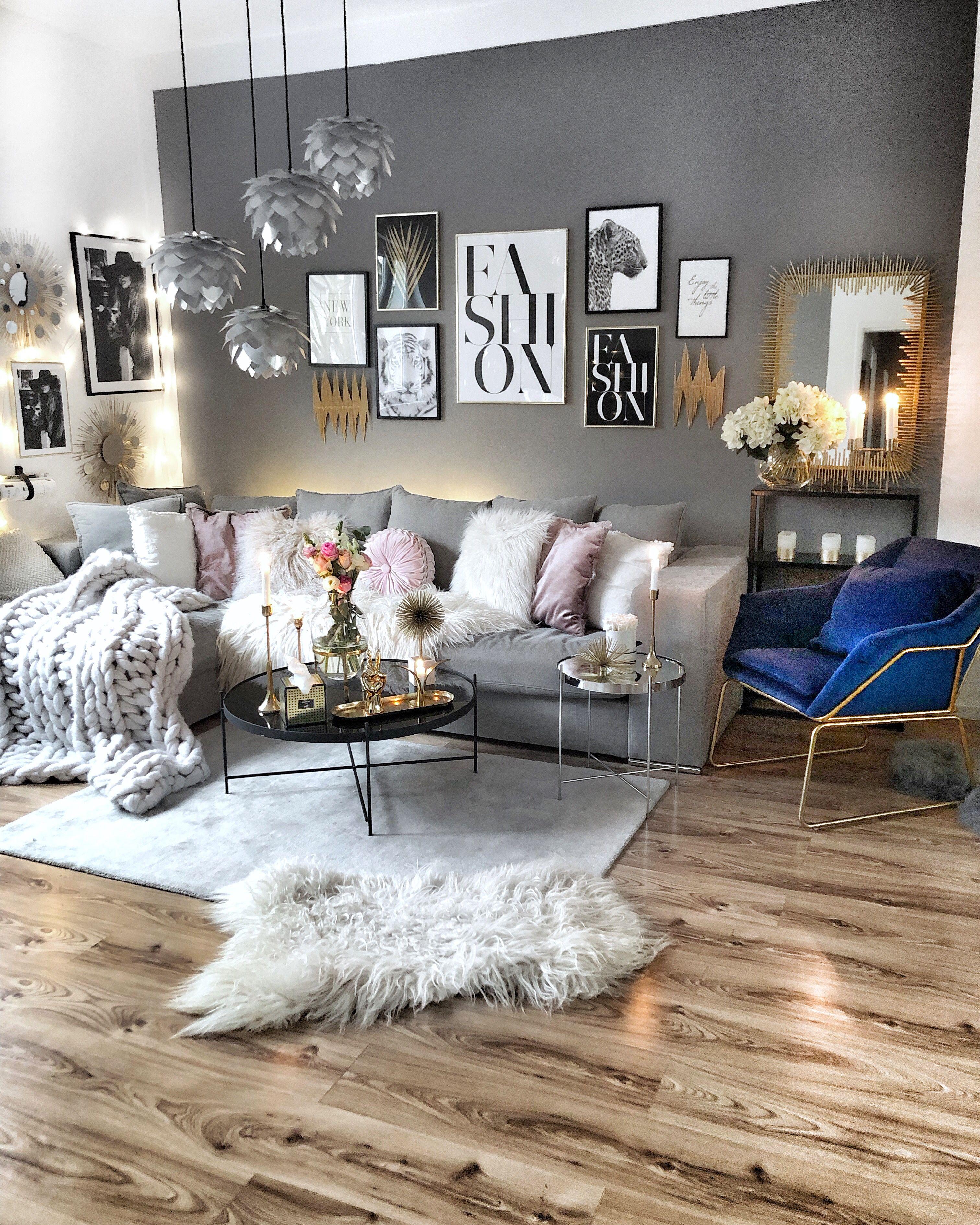Zimmer Grau Blau: #Wohnzimmer #einrichtung #einrichtungsidee #gemütlich