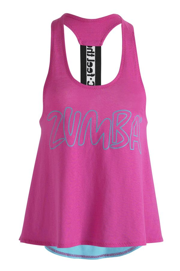 Zumba Party On Loose Racerback - Berry