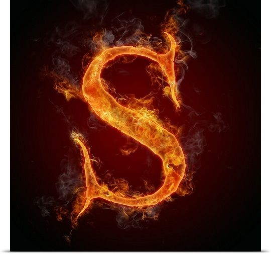 S Flame Letter Art Letter Photography Letter Art Free Art Prints