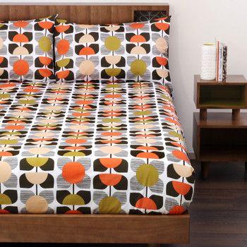 Orla Kiely Square Flower Duvet Cover Coral Coral Duvet Cover Flower Duvet Cover Flower Bedding