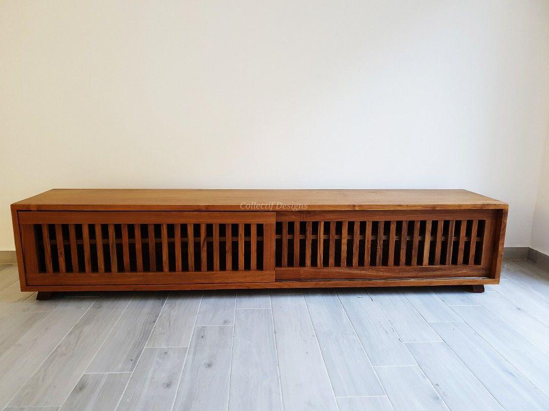 Teak Tv Console Solid Wood Furniture Wood Furniture Beautiful Furniture Pieces
