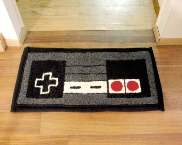 80 S Gamer Carpets Nintendo Controller Rug Spiffy Home
