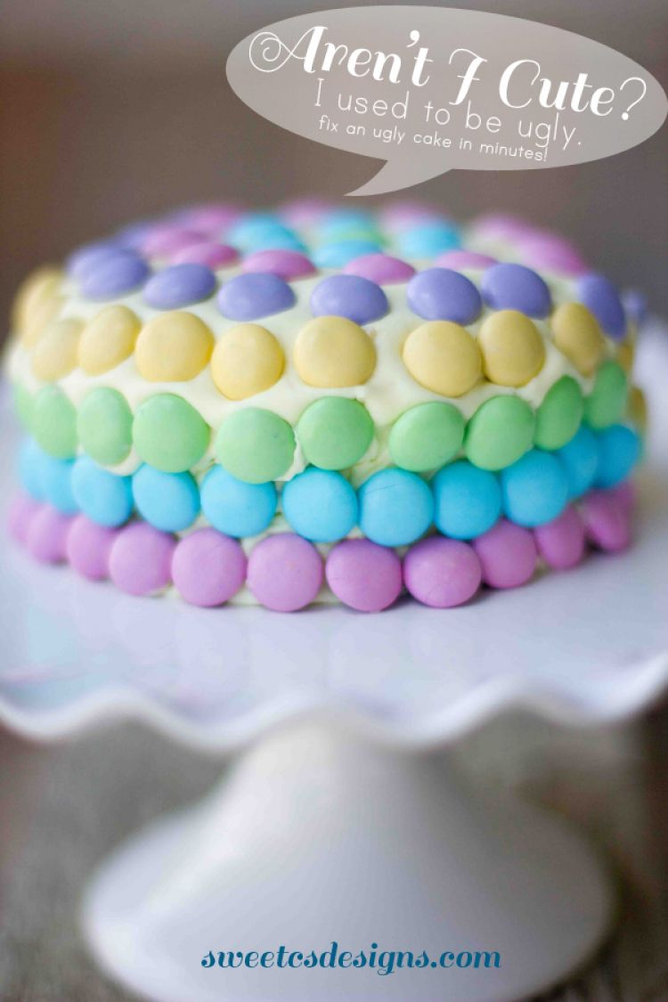 Cake Decorating Pre Made Icing : how to fix an ugly cakes- easily frost a cake that is ...
