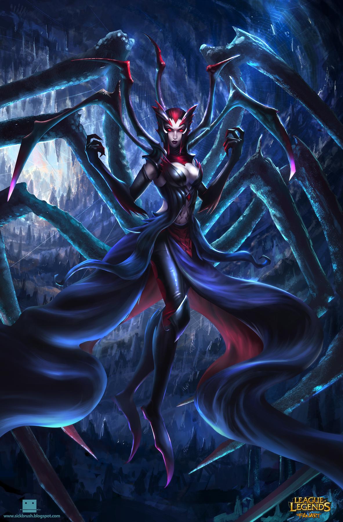 League Of Legends Elise Fanart By Sickbrush On Deviantart Lol League Of Legends League Of Legends Fan Art