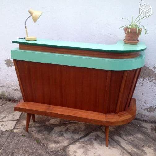 Bar Vintage Formica Pieds Compas Annees 50 Ameublement Val D Oise Leboncoin Fr Ameublement Mobilier De Salon Deco Retro
