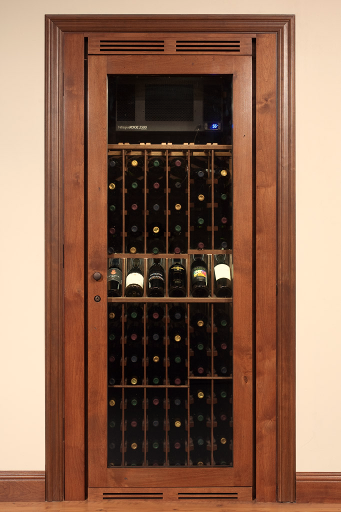 Wine Closet Cabinets Feature A Display Row And Pre