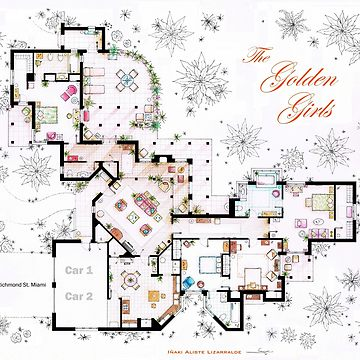 Ted Mosby S Apartment From Himym Poster By Nikneuk Redbubble Golden Girls House Golden Girls Floor Plan Drawing