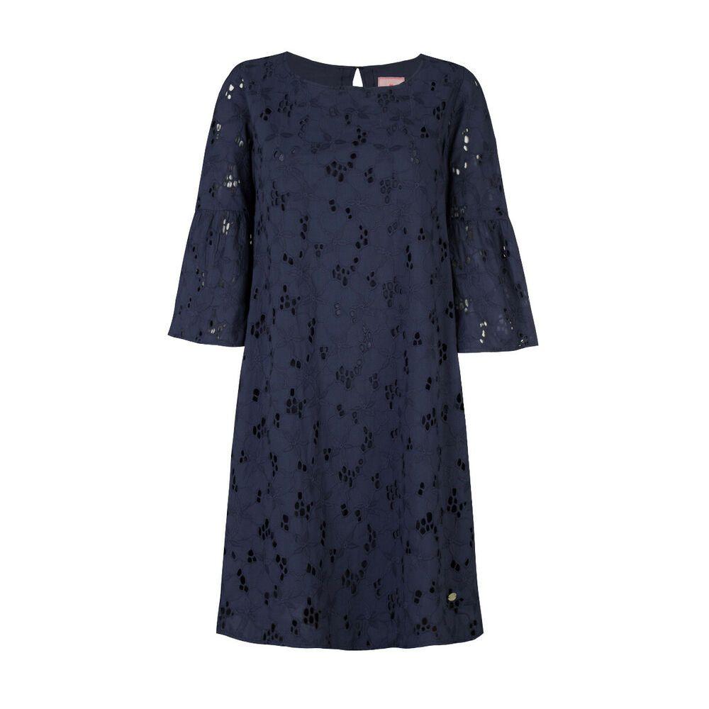 d78b3ce66ba Lieblingsstück NEU Gr.40 Kleid ElsitaK A-Linie Dunkel-Blau Lochstickerei  damen   kleider  trend  freu  mode