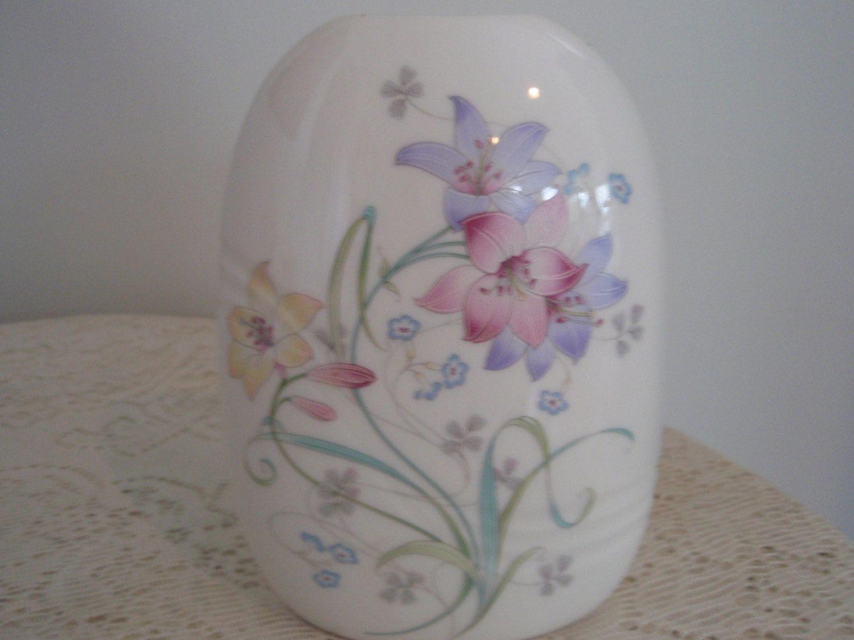 Vintage Chantilly Rose vase. Royal Crown flower vase,hand painted flower vase by SocialmarysTreasures on Etsy