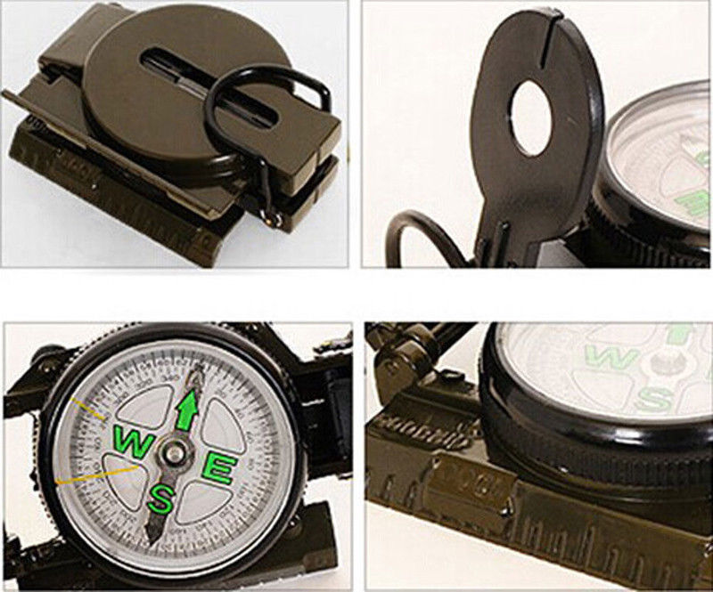 Metal Pocket Army Style Compass Military Camping Hiking