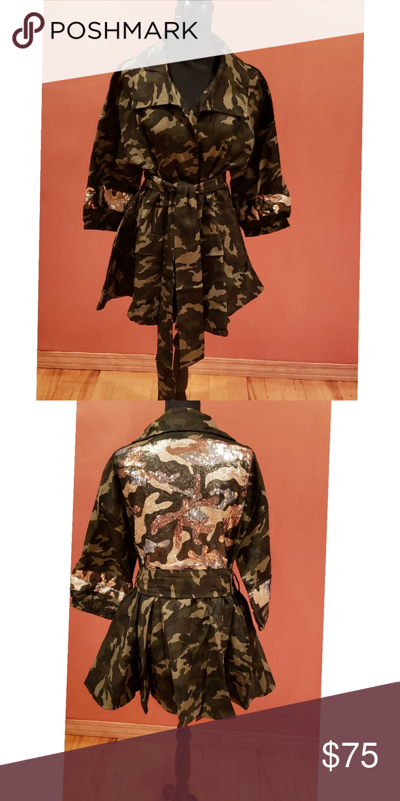 0c07cf18601 Plus Size Camouflage Sequin Jacket One of our stylish jackets in our Curves  Poppin Collection! Check out more stylish pieces at www.gdujourallure.shop  ...