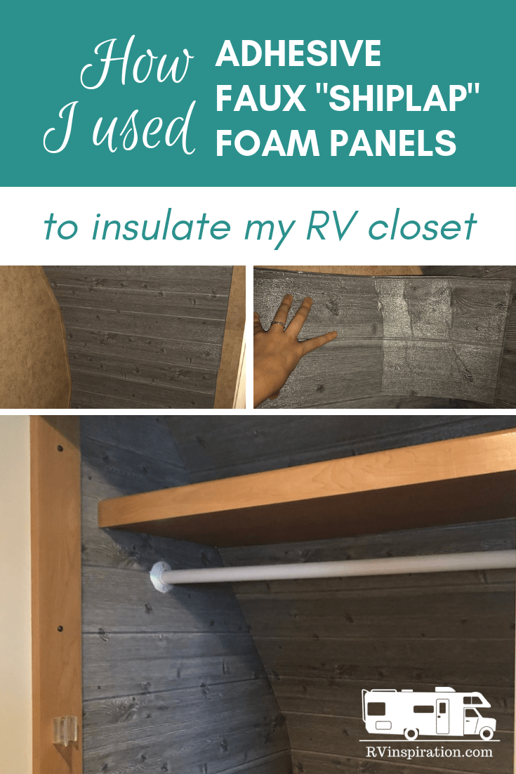 Insulating Rv Walls With Faux Wood Plank Adhesive Panels Rv Inspiration Camper Makeover Diy Rv Remodeled Campers