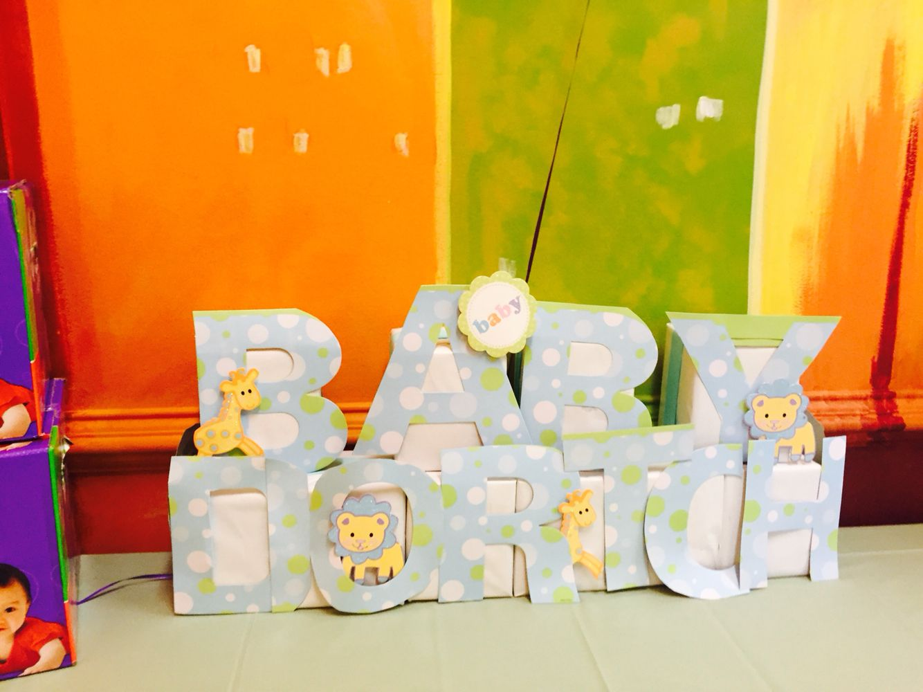Baby Name Blocks Wrap Kleenex Boxes Amp Add Ribbons Letters