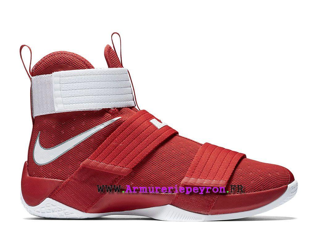 a5a934a3304 ... get nike lebron soldier 10 prix chaussure de basketball pas cher pour  homme rouge blanc 844380601