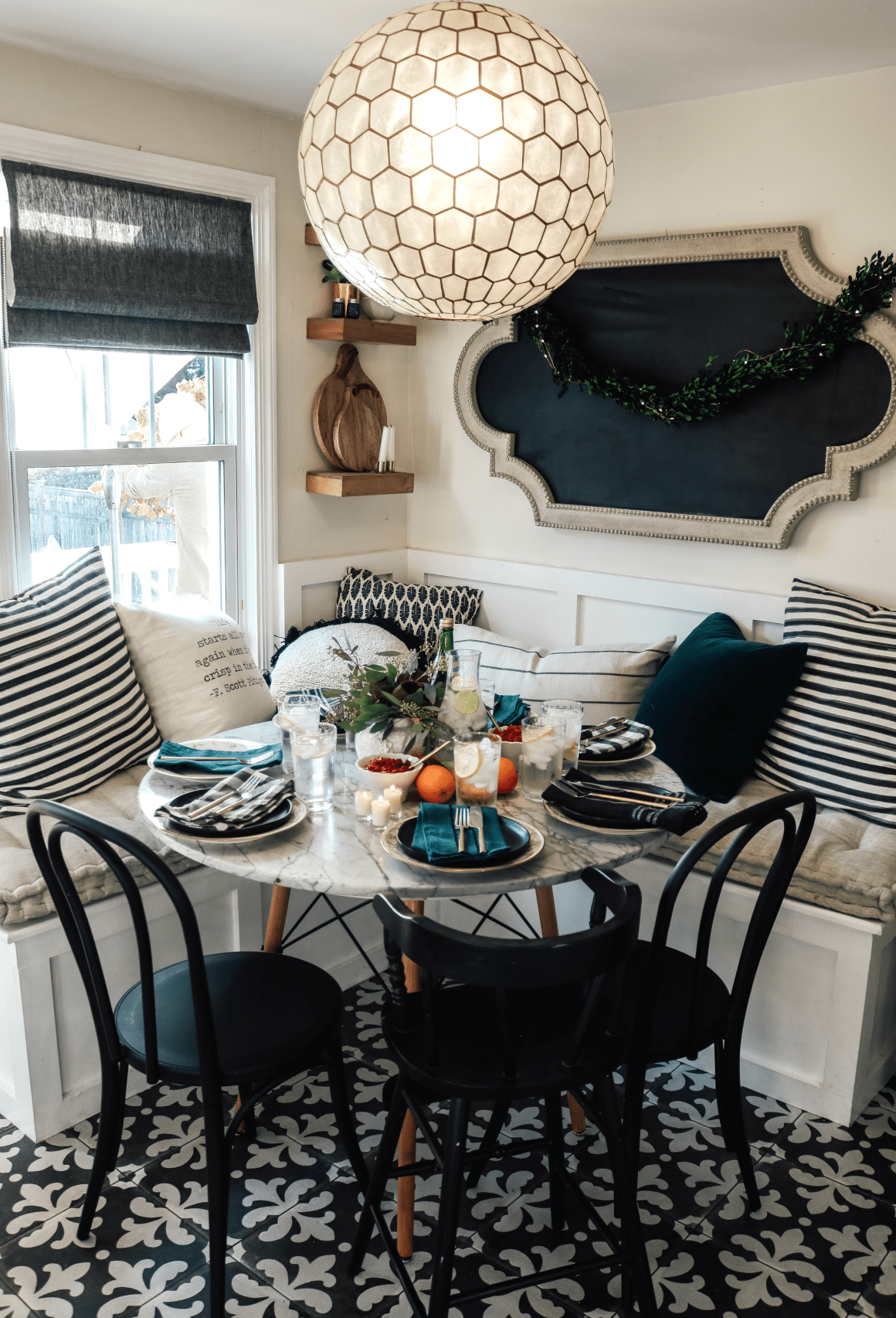 Thanksgiving In Our Small Kitchen And Table Setting Tips Nesting With Grace Dining Room Small Dining Room Remodel Dining Room Design
