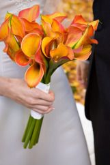 Flame Calla Lily Bouquet by Lady Slipper Designs