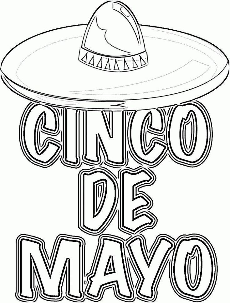 photograph about Cinco De Mayo Coloring Pages Printable titled Free of charge Cinco de Mayo Coloring Internet pages Cinco de Mayo