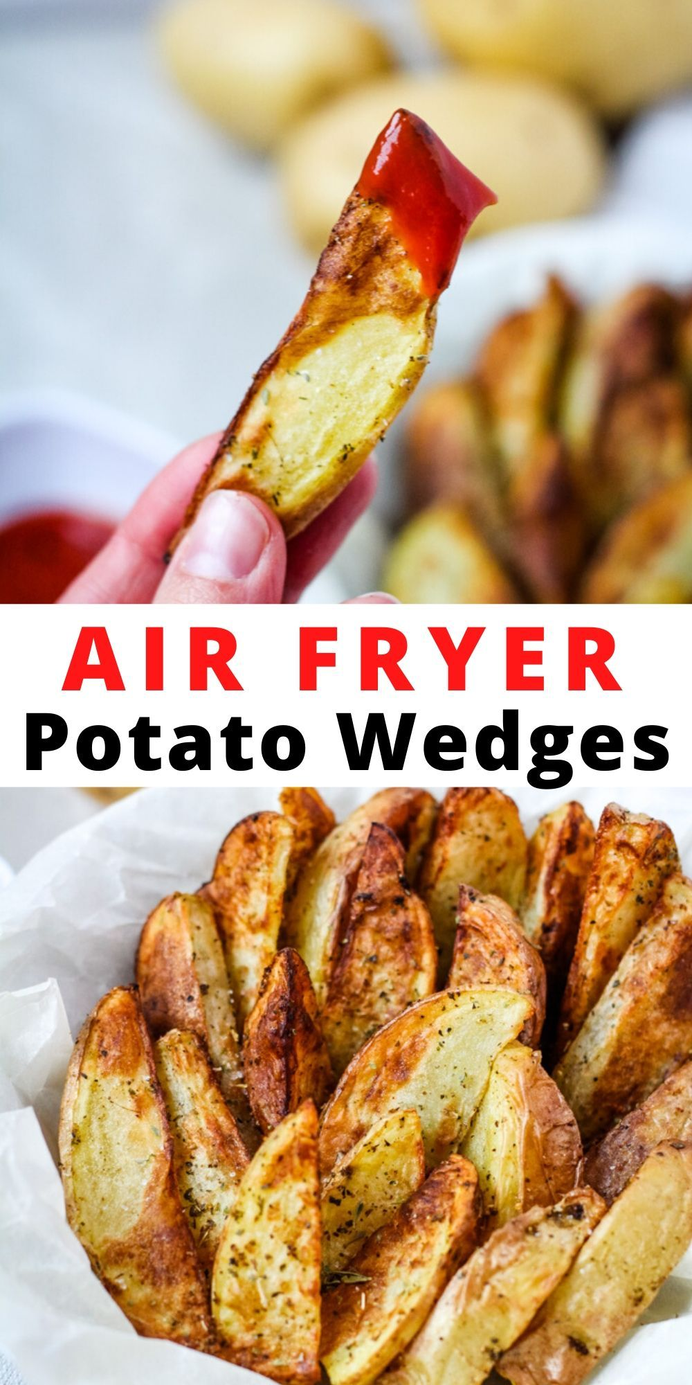 These crispy easy to make Air Fryer Potato Wedges are