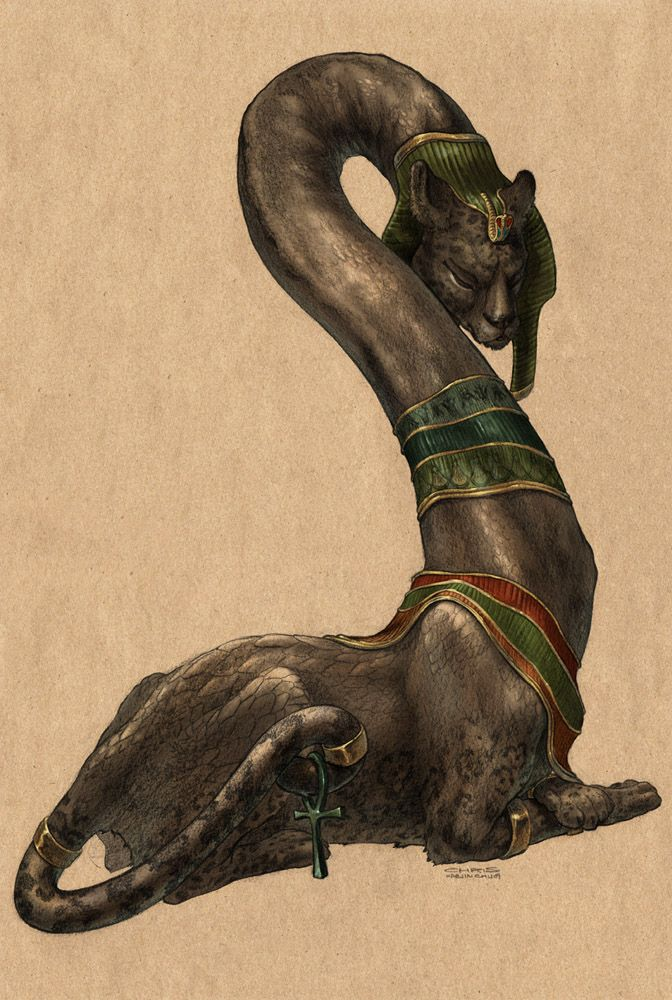Serpopard Is An Egyptian Myth Where It Is A Cross Between