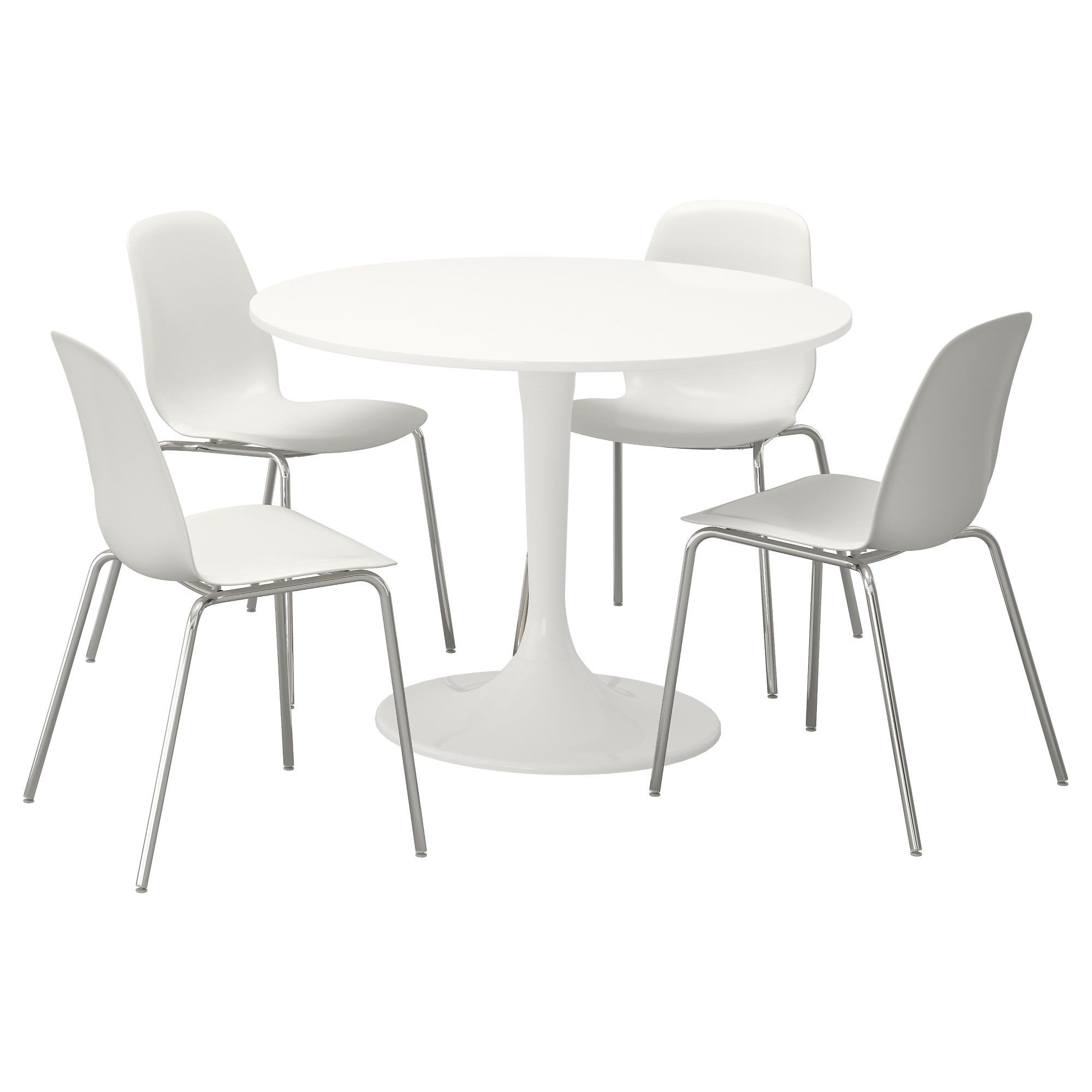 Docksta Leifarne Table And 4 Chairs White White