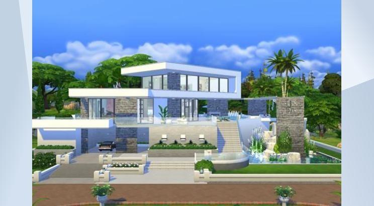 Sieh dir dieses Grundstück in der Die Sims 4-Galerie an ...