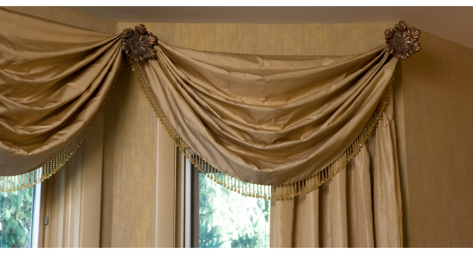 Elegant Valances Swags Ares Installed On Tieback Holder