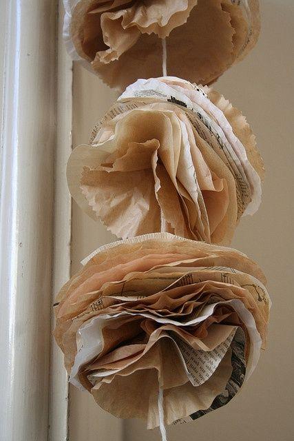 Deco de noel en papier journal