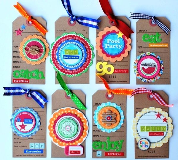 Nice tag idea - great for scrapbooking