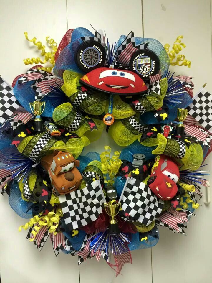 Disney Cars wreath | Disney wreath | Pinterest | Wreaths ...