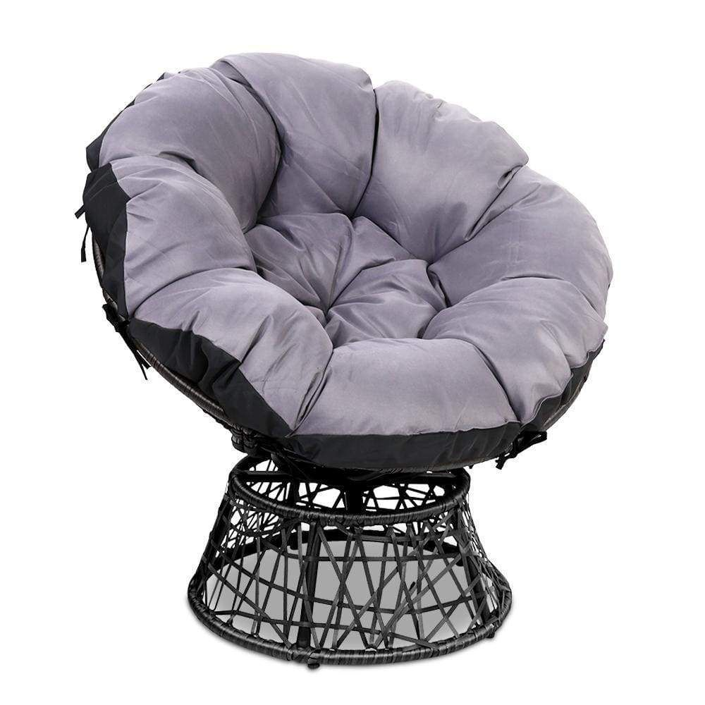 Gardeon papasan chair black papasan chair outdoor