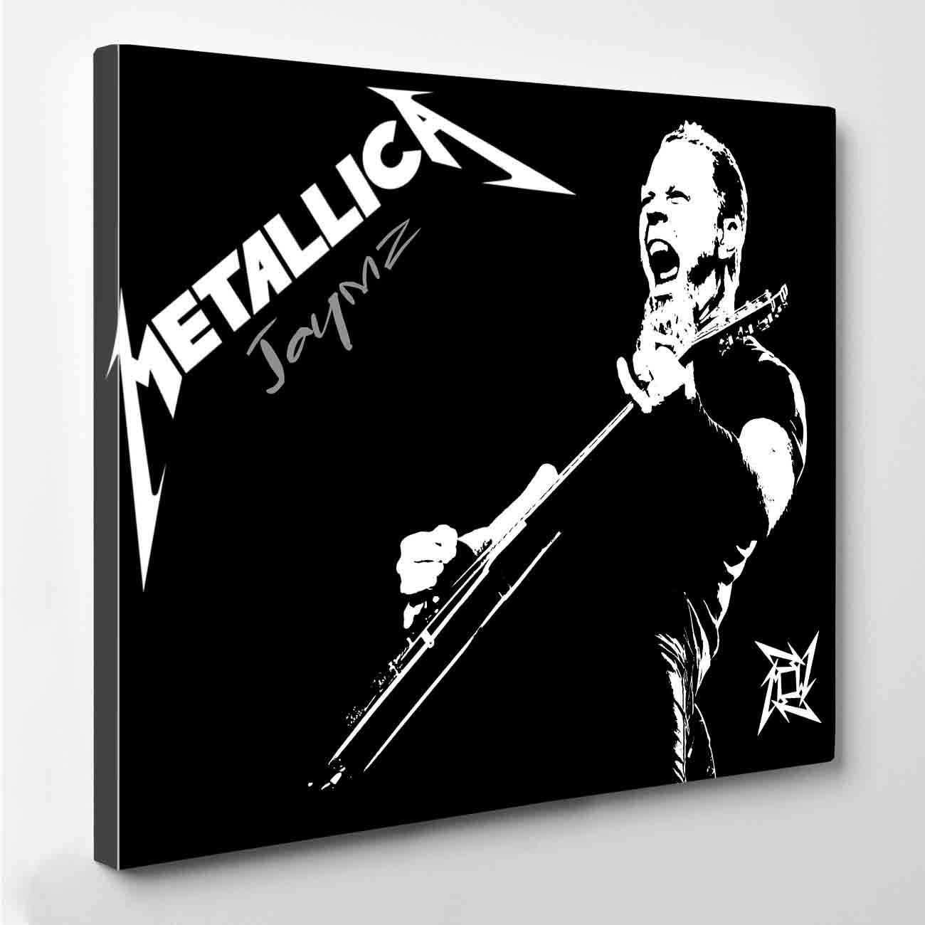James Hetfield Metallica Canvas Print by PeriodDesign on