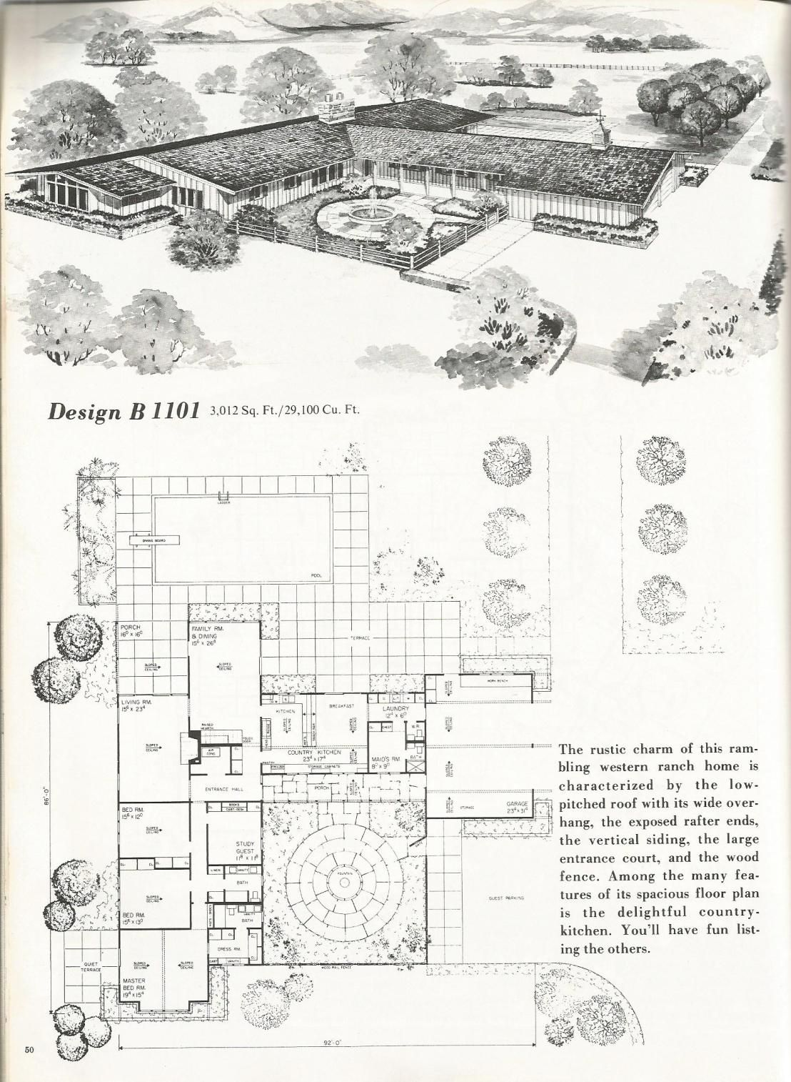 Vintage House Plans 1101 Vintage House Plans Ranch Style Homes House Plans