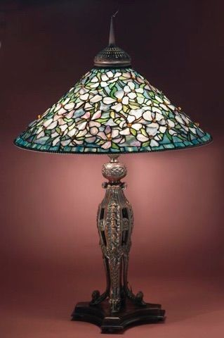 Looking Into Getting A Lampshade Like This Made For Over The Game Table In The Front Bay Window These Wo With Images Art Glass Lamp Tiffany Style Lamp Stained Glass Lamps