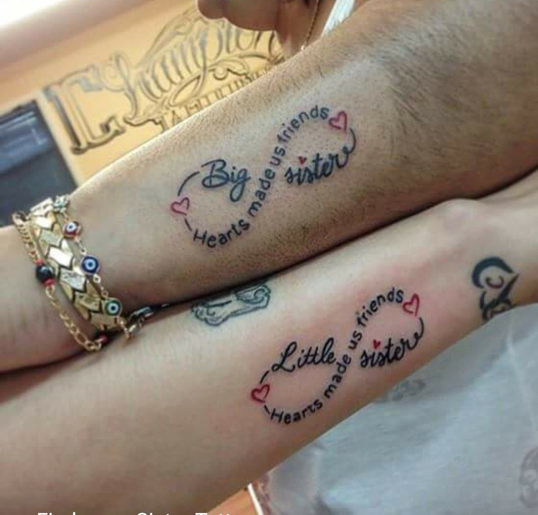 Pin by Ashleeyy on tattoos Sister tattoo infinity