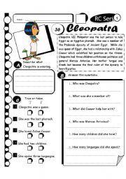 English worksheet: RC Series Level 1_37 Cleopatra (Fully